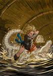 Gator fight copy by SteveLeCouilliard