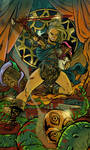 Una the Blade business card by SteveLeCouilliard