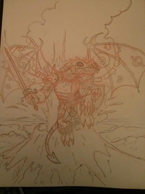 D and D Dragonborn Champion by SteveLeCouilliard