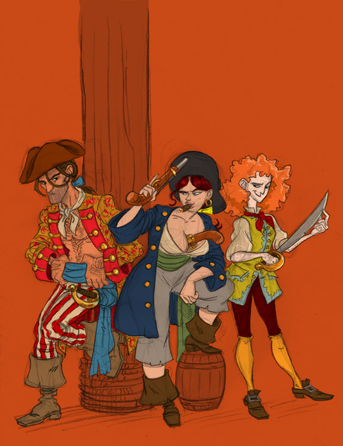 Mary Read and Anne Bonny by SteveLeCouilliard