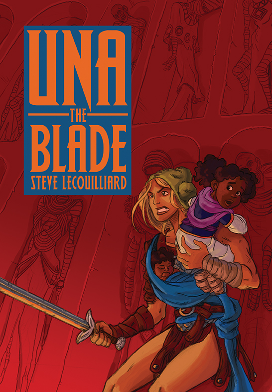 Una the Blade Cover by SteveLeCouilliard