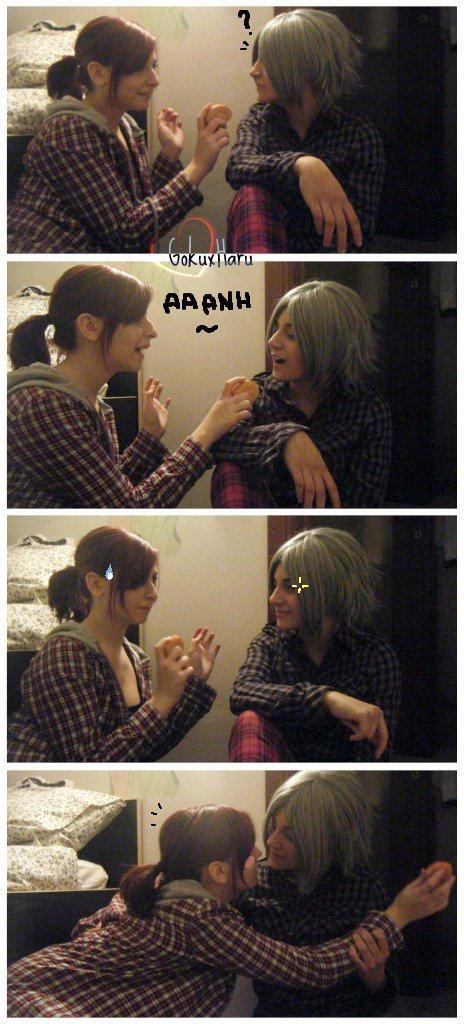 Gokudera Hayato and Haru Miura