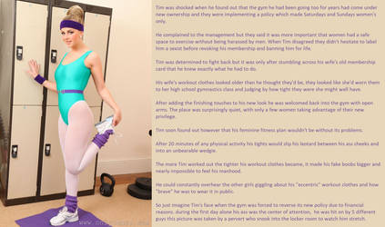 TG Caption: Female fitness by FromMisogynistToMaid