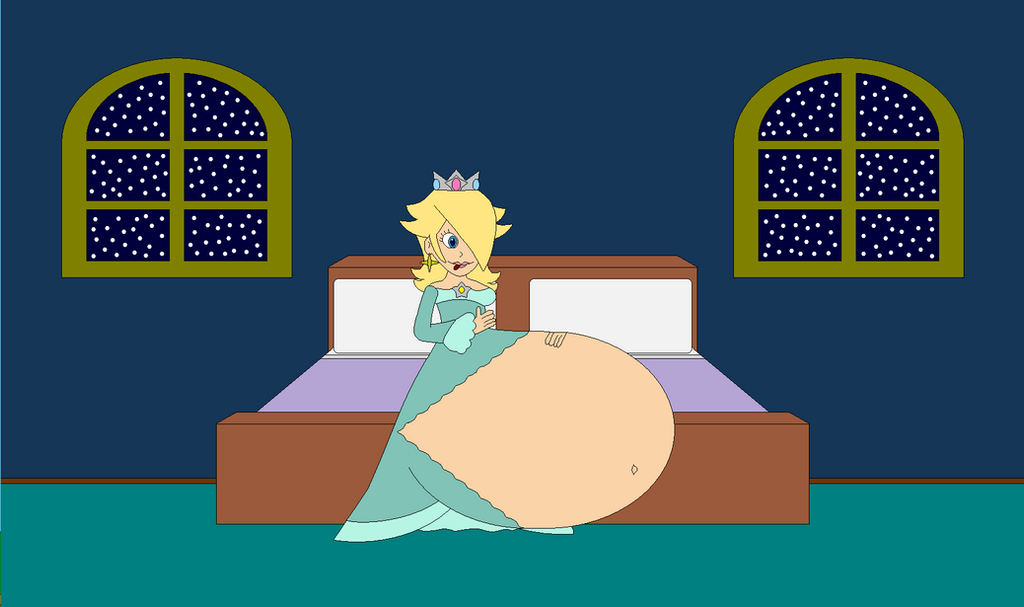 Rosalina's Belly Love Request by Bowser14456