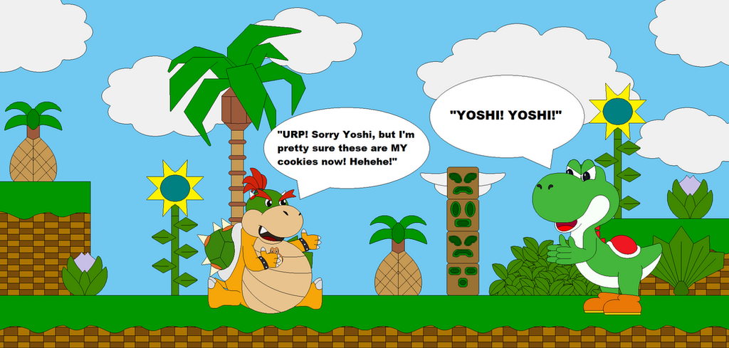 Baby Bowser ate Yoshi s Cookies by Bowser14456Yoshi Vs Baby Bowser