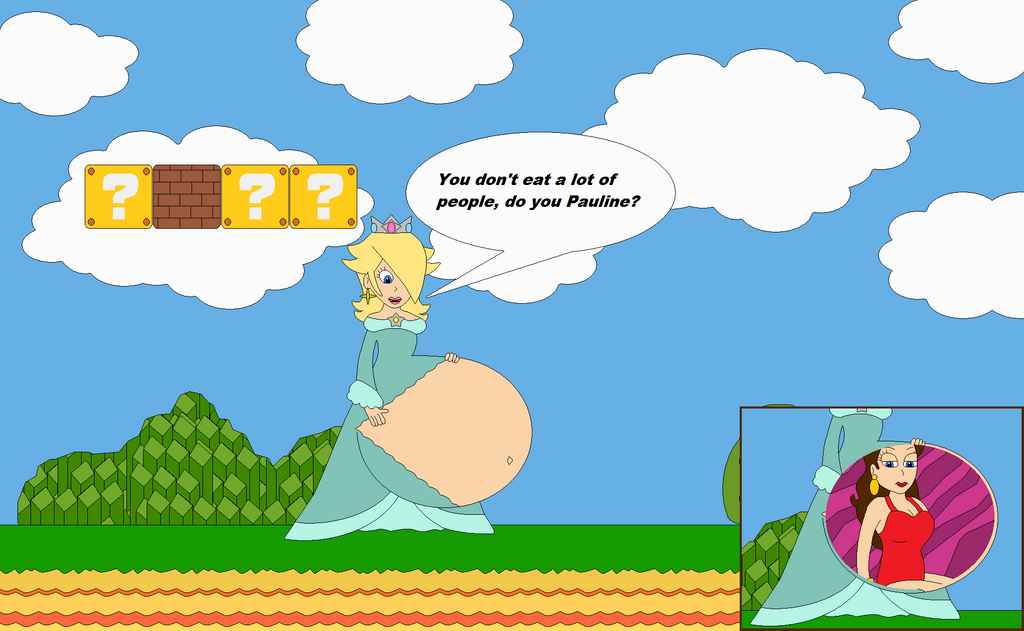 Rosalina ate Pauline by Bowser14456
