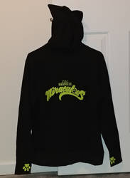 Chat Noir Hoodie (back) by Bowser14456