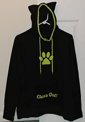Chat Noir Hoodie (front) by Bowser14456