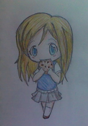 chibi eating cookie by tlnnlt on DeviantArt