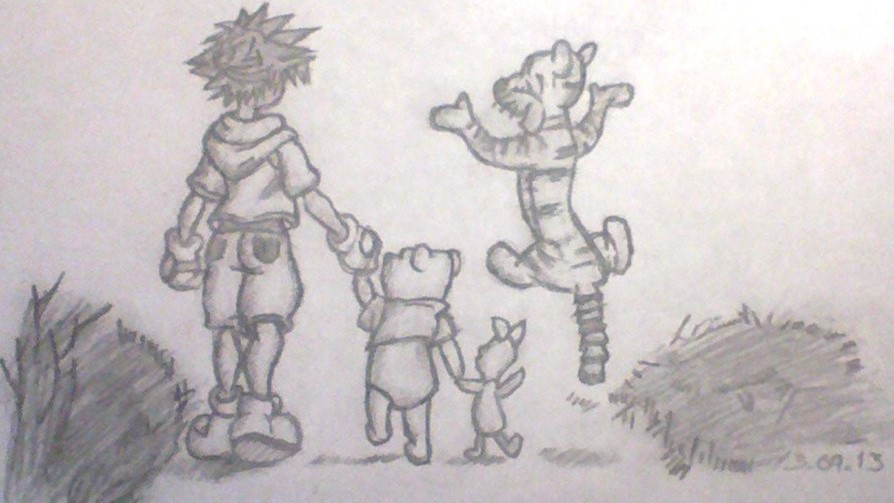 Kingdom Hearts Lineart : Kingdom hearts winnie the pooh by thelifeofawallflower on deviantart
