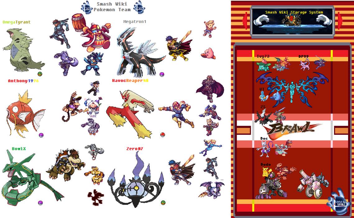 ssb wiki pokemon team by megatronxd1