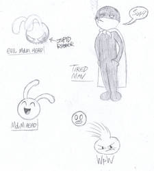 MdM Characters Sketch Montage