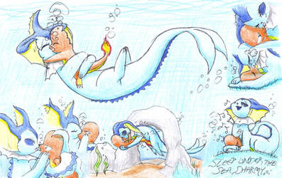 A Lizard's Guardian Mermaid by C-Studios