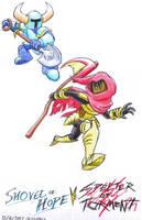 Shovel Knight vs. Specter Knight by C-Studios