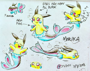 Marika the Pikachu Mermaid