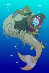 Warm Lopunny Mermaid Hugs