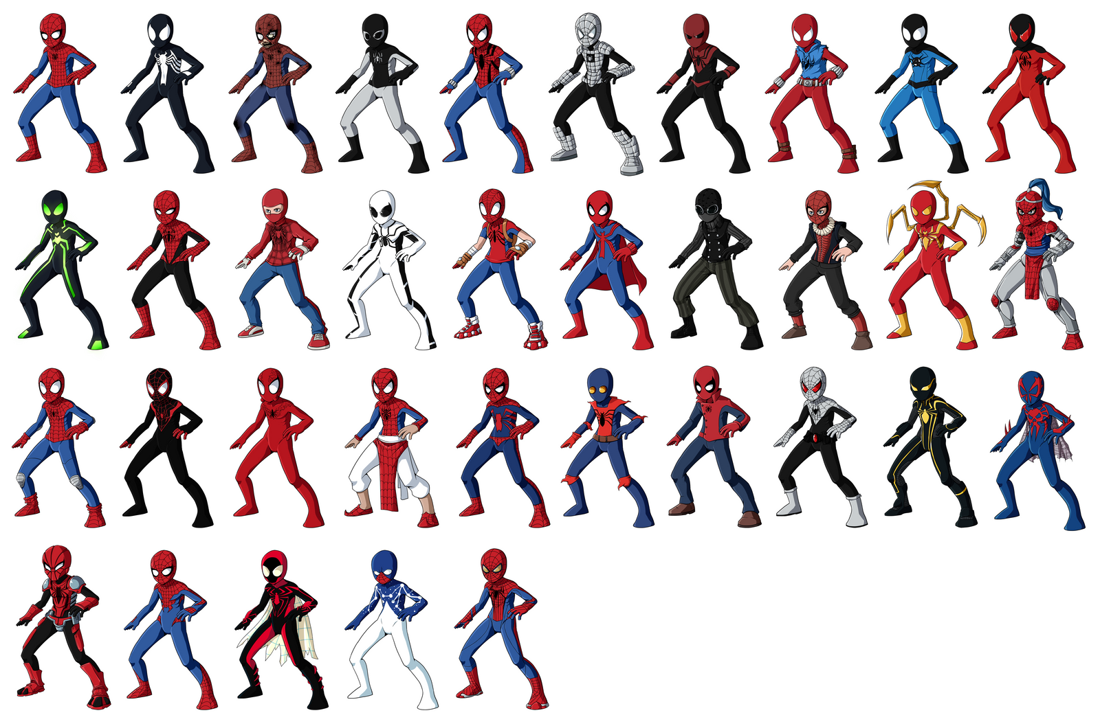 spider man alternate versions by raindante on deviantart