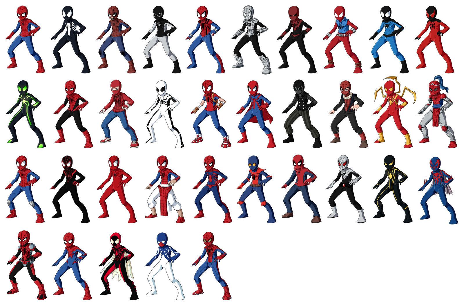 Spider-Man Alternate Versions by RainDante