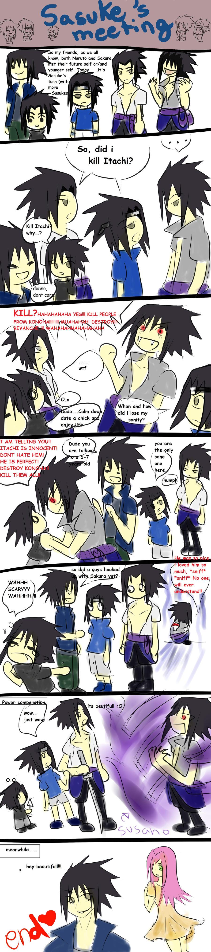 Sasuke's meeting by animeGirlRandom