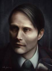 Hannibal Lecter Portrait Study