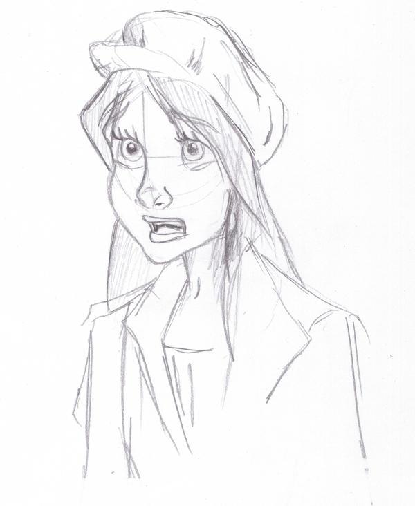 how to draw female style disney