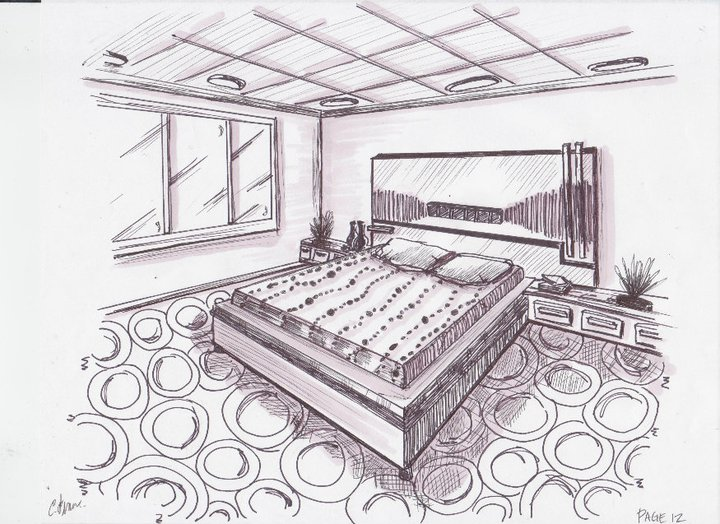 Bedroom Sketch By Sandyfranch On Deviantart