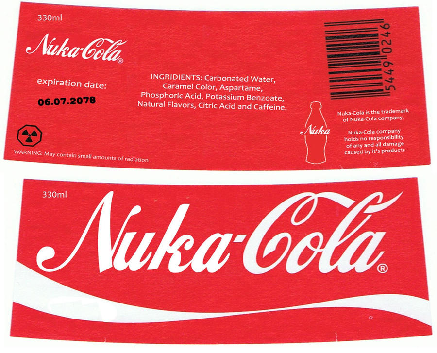 Adorable image inside nuka cola printable labels