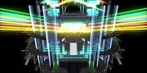 Neon wire mesh stage