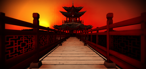 Chinese temple stage
