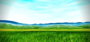Grassy field stage DL DOWN