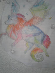 Color winged wolf