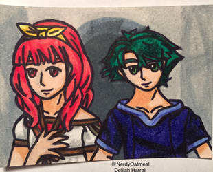 Fire Emblem Young Alm and Celica ATC by NerdyOatmeal