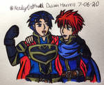 Eliwood and Hector Drawing by NerdyOatmeal