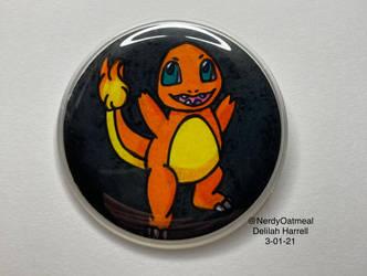 Charmander Badge by NerdyOatmeal