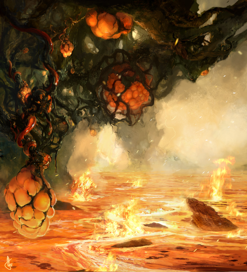 Claro entre las llamas eternas  - Página 2 The_Red_Forest_by_firedudewraith