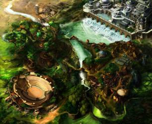 Elven City Map by firedudewraith