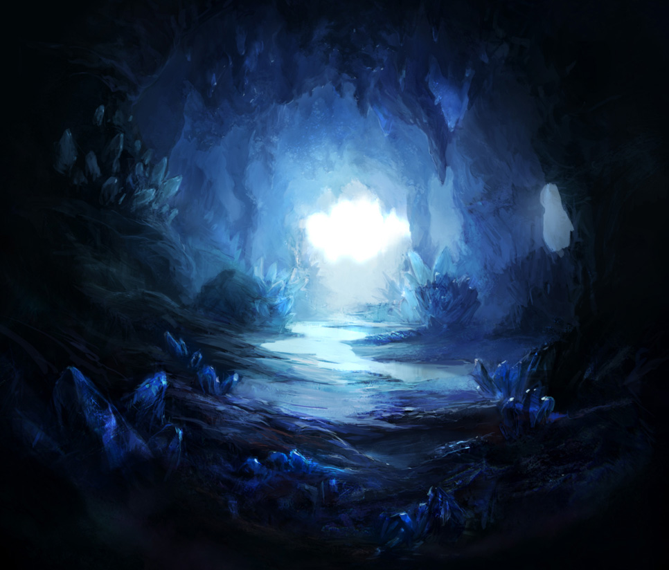 Crystal cave 2 by firedudewraith on deviantart for Paintings of crystals