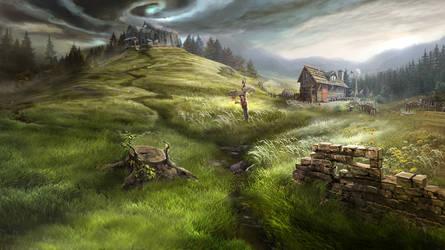 Otherworld - dark plains by firedudewraith