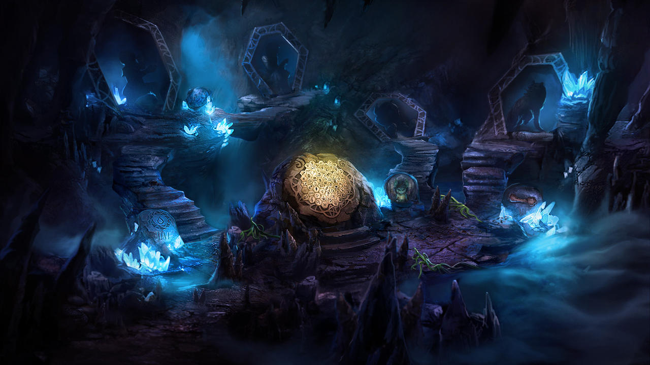 Otherworld crystal cave by firedudewraith on deviantart for Paintings of crystals