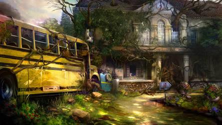 Otherworld 2 - schoolbus by firedudewraith