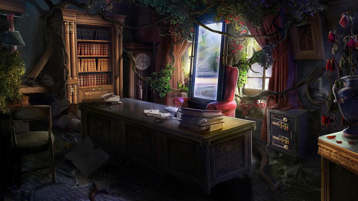Otherworld 2 - desk by firedudewraith
