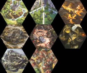 Myth: Dark Frontier tiles by firedudewraith
