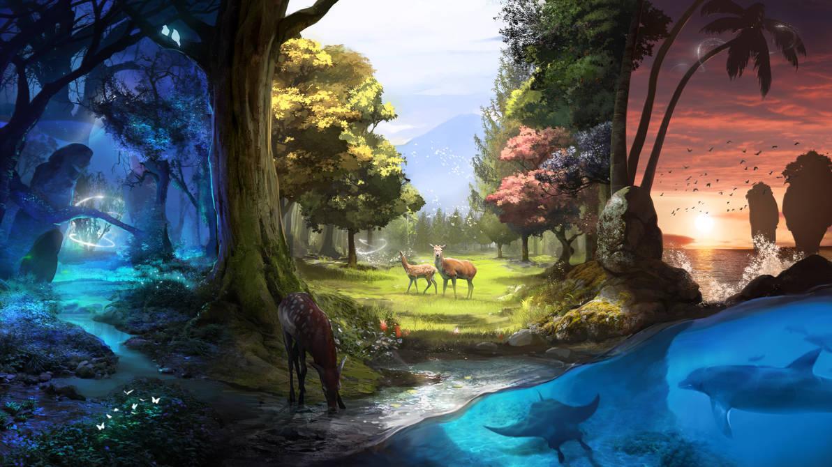 Nature Treks VR art by firedudewraith