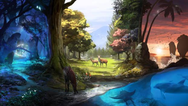 Nature Treks VR art