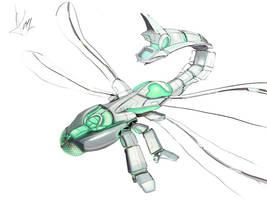 Dragonfly Bot by firedudewraith