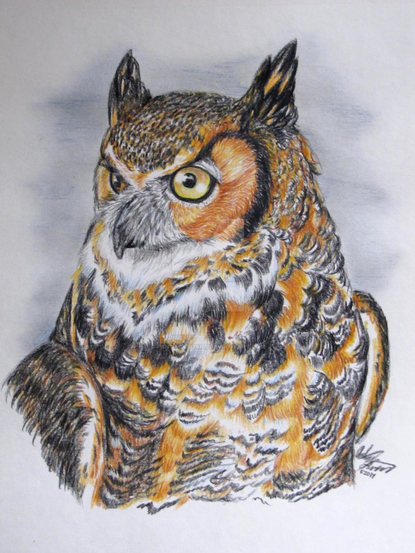 Great Horned Owl by FantasyToArt