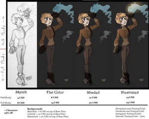Commission Price Sheet 2020