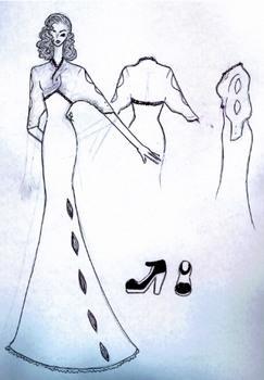 40s inspired gown