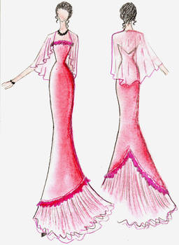 Evening 1, Scarlet Gown remade