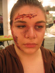 Car Wreck Victim Makeup